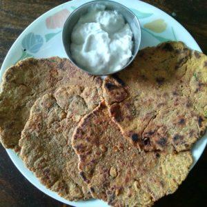Groundnut Bajra Paratha