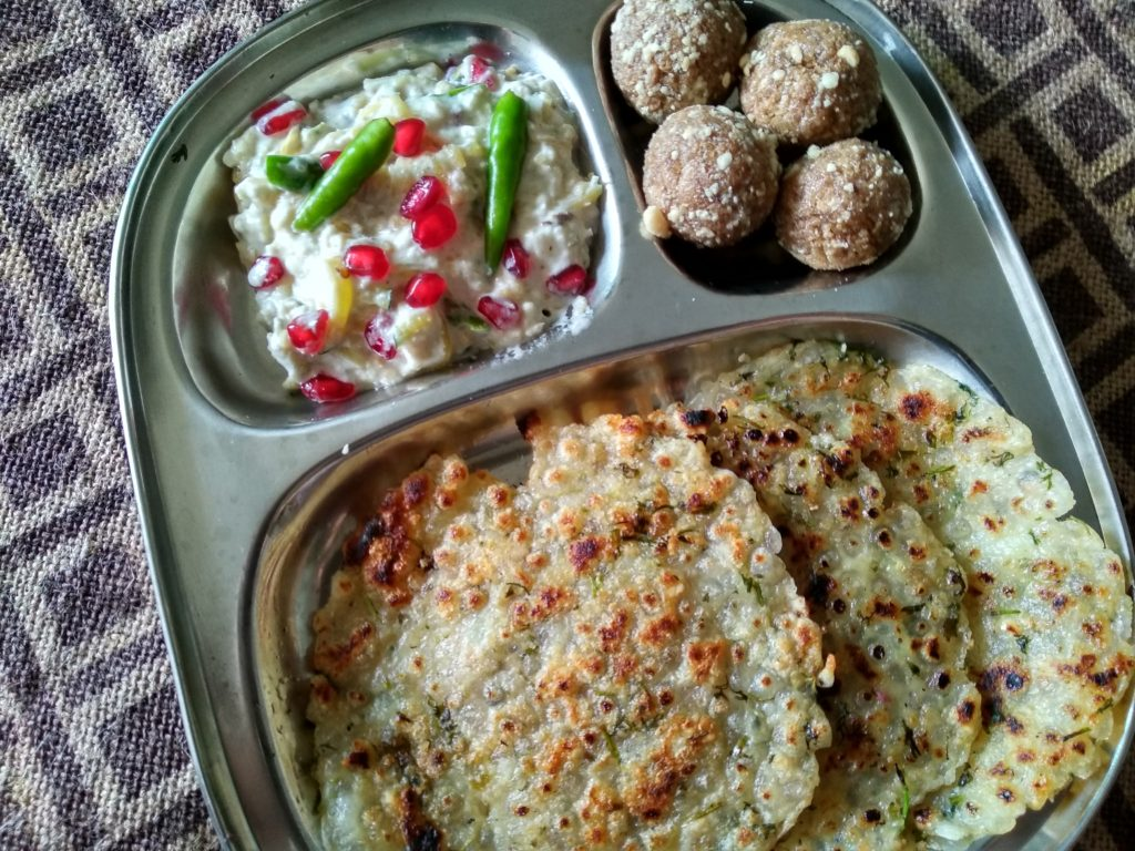 Navratri thali Day 1
