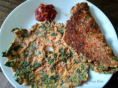 Millet Moringa leaves adai