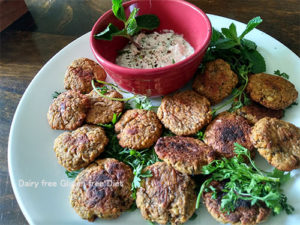 Baked Falafel with Black eyed beans