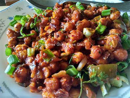 Chilli channa crispy and crunchy