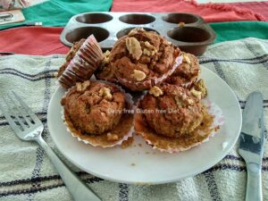 Date and Walnut muffins