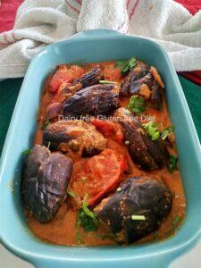 Stuffed Eggplants in tomato Gravy